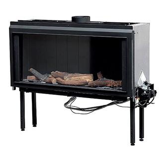 TextSlip for besværet med at tænde brændet op med MCZ FORMA 75 gaspejs. Tryk blot på fjernbetjeningen, og så vil både hyggen og varmen sprede sig i hjemmet.